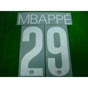 Official MBAPPE #29  Paris Saint Germain PSG 3rd 2017-18 UCL PRINT