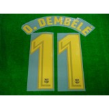OFFICIAL O.DEMBELE #11 Barcelona Home 2017-18 PRINT