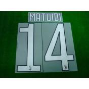 Official MATUIDI #14 Juventus Home 2017-18 PRINT