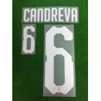 Official CANDREVA #6 Italy Home 2017-18 PRINT