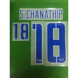 Official S.CHANATHIP #18 THAILAND HOME 100 years KINGS CUP 2016 PRINT