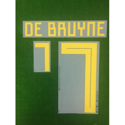 Official DE BRUYNE #7 Belgium Home World Cup 2018 PRINT