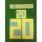 Official M.ASENSIO #20 Spain Home World Cup 2018 PRINT