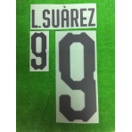 Official L.SUAREZ #9 URUGUAY Home World Cup 2018 PRINT