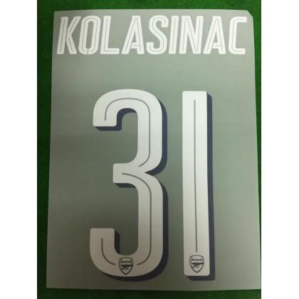 Official KOLASINAC #31 Arsenal FC Home CUP 2018-19 PRINT