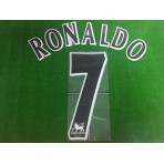 Official RONALDO #7 Manchester United BLACK FAPL 1997-2007 PLAYER SIZE SENSCILIA PRINT