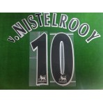 Official v.NISTELROOY #10 Manchester United BLACK FAPL 1997-2007 PLAYER SIZE SENSCILIA PRINT