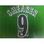 Official SHEARER #9 NEWCASTLE United BLACK FAPL 1997-2007 PLAYER SIZE SENSCILIA PRINT