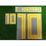 Official E.HAZARD #10 Belgium Home World Cup 2018 PRINT