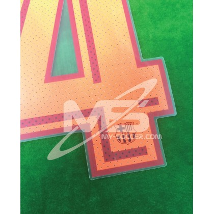 OFFICIAL PLAYER ISSUE COUTINHO #14 FC Barcelona 3rd 2017-18 PRINT