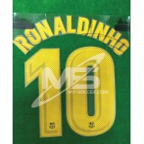OFFICIAL PLAYER ISSUE RONALDINHO #10 FC Barcelona Home 2017-18 PRINT