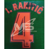 OFFICIAL PLAYER ISSUE I.RAKITIC #4 FC Barcelona 3rd 2017-18 PRINT