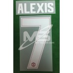 PLAYER ISSUE Official ALEXIS #7 Manchester United Home CUP UCL 2017-18 PRINT