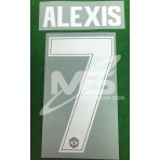 PLAYER ISSUE Official ALEXIS #7 Manchester United Away CUP UCL 2017-18 PRINT