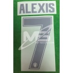 PLAYER ISSUE Official ALEXIS #7 Manchester United 3rd CUP UCL 2017-18 PRINT