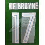 OFFICIAL DE BRUYNE #17 Manchester City Away UCL CUP 2017-18 PRINT