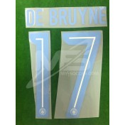 OFFICIAL DE BRUYNE #17 Manchester City 3rd UCL CUP 2017-18 PRINT