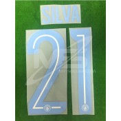 OFFICIAL SILVA #21 Manchester City 3rd UCL CUP 2017-18 PRINT