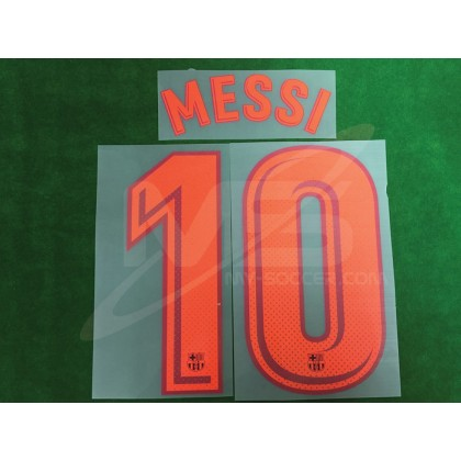 OFFICIAL MESSI #10 FC Barcelona 3rd 2017-18 PRINT