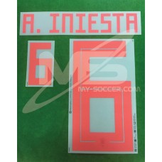 Official A.INIESTA #6 Spain Away World Cup 2018 PRINT