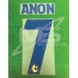 Official ANON #7 Buriram United Away 2018 PLAYER PRINT