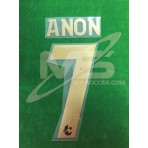 Official ANON #7 Buriram United 3rd 2018 PLAYER PRINT