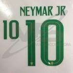 Official NEYMAR JR #10 Brazil Home WORLD CUP 2018 PRINT