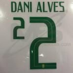 Official DANI ALVES #2 Brazil Home WORLD CUP 2018 PRINT