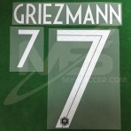 Official GRIEZMANN #7 France Home World Cup 2018 PRINT