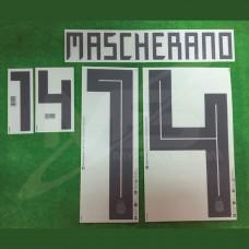 OfficiaI MASCHERANO #14 Argentina Home World Cup 2018 PRINT