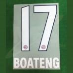 Official BOATENG #17 Bayern Munich Home 2018-19 DEKOGRAPHICS PU PRINT