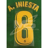 OFFICIAL PLAYER ISSUE A.INIESTA #8 FC Barcelona Home 2018-19 PRINT