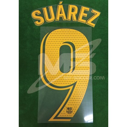 OFFICIAL PLAYER ISSUE SUAREZ #9 FC Barcelona Home 2018-19 PRINT