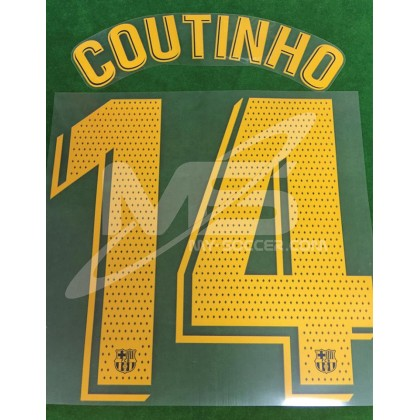 OFFICIAL PLAYER ISSUE COUTINHO #14 FC Barcelona Home 2018-19 PRINT