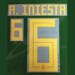 Official A.INIESTA #6 Spain Home World Cup 2018 PRINT