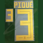Official PIQUE' #3 Spain Home World Cup 2018 PRINT