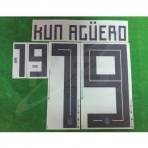 Official KUN AGUERO #19 Argentina Home World Cup 2018 PRINT