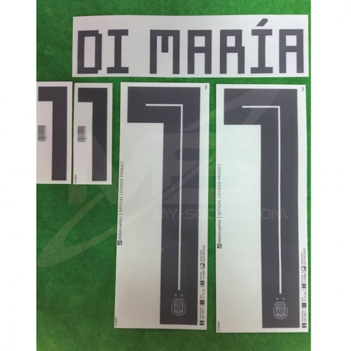 official di maria 11 argentina home world cup 2018 print