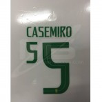 Official CASEMIRO #5 Brazil Home WORLD CUP 2018 PRINT
