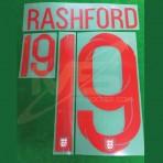 Official RASHFORD #19 England Home World Cup 2018 PRINT