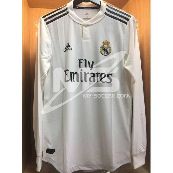san francisco a6d01 2e432 AUTHENTIC ADIDAS CLIMACHILL Real Madrid CF Home 2018-19 LS ...