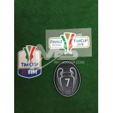 Official AC MILAN TIM CUP Player Size 2018 + FINALE ROMA 2018 + BOH 7 Patches
