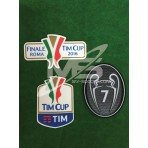 Official AC MILAN TIM CUP Player Size 2016 + FINAL ROMA 2016 + BOH 7 Patches