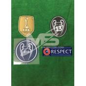Official UEFA UCL REAL MADRID UCL 2018 Senscilia Patches