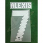 Official ALEXIS #7 Manchester United Home CUP UCL 2018-19 PRINT