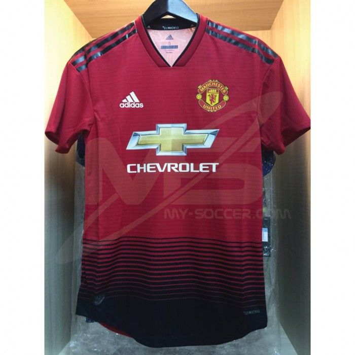 9a3c0b7a9 ADIDAS CLIMACHILL PLAYER VERSION Manchester United Home AUTHENTIC 2018-19  Jersey