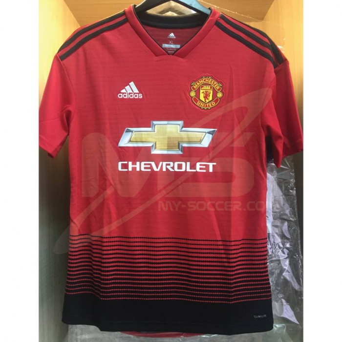 b90fc9aca ADIDAS CLIMALITE Manchester United Football Club Home BOYS 2018-19 Jersey