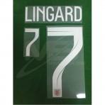 Official LINGARD #7 England Away World Cup 2018 PRINT