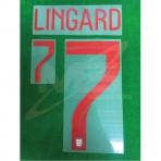Official LINGARD #7 England Home World Cup 2018 PRINT