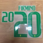 Official FIRMINO #20 Brazil Home WORLD CUP 2018 PRINT